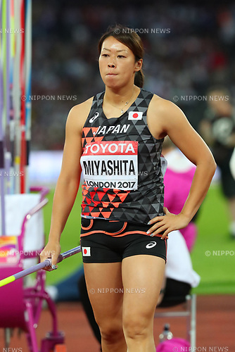 Risa Miyashita (JPN), <br /> AUGUST 6, 2017 - Athletics : <br /> IAAF World Championships London 2017 <br /> Women's Javelin Throw Qualification <br /> at The London Stadium in London, UK. <br /> (Photo by YUTAKA/AFLO SPORT)