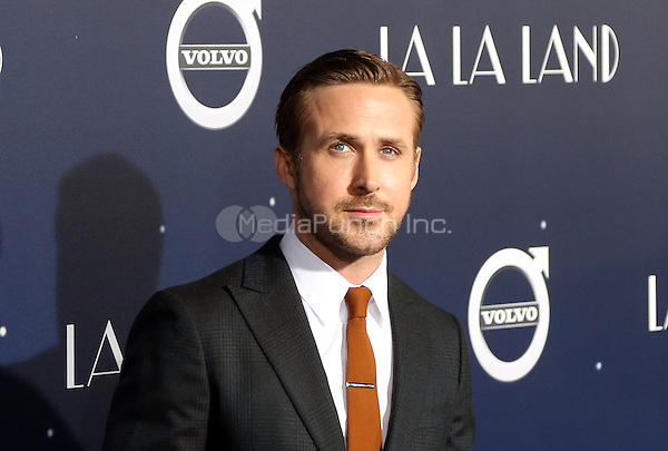 "Westwood, CA - DECEMBER 06: Ryan Gosling, At Premiere Of Lionsgate's ""La La Land"" At Mann Village Theatre, California on December 06, 2016. Credit: Faye Sadou/MediaPunch"
