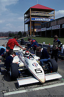 Bobby Rahal tests Goodyear's first radial IndyCar tires at Mid-Ohio Sports Car Course in 1984.