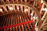 BRAZIL, Manaus, inside the Teatro Amazonas opera house located in the center of Manaus