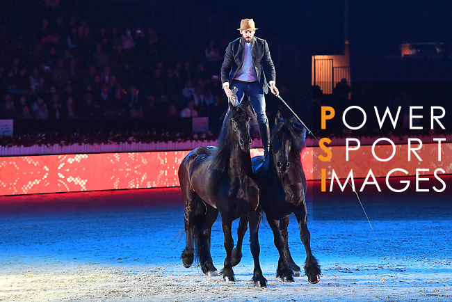 Santi Serra show presented by Shanghai Tang during Longines Masters of Hong Kong on 11 February 2017 at the Asia World Expo in Hong Kong, China. Photo by Weixiang Lim / Power Sport Images