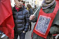 - Milano, manifestazione di protesta dei sindacati contro gli incidenti sul lavoro dopo la morte di  quattro operai in una fabbrica a nord della  citt&agrave;<br /> <br /> - Milan, trade union protest demonstration against accidents at work after the death of four workers in a factory north of the city