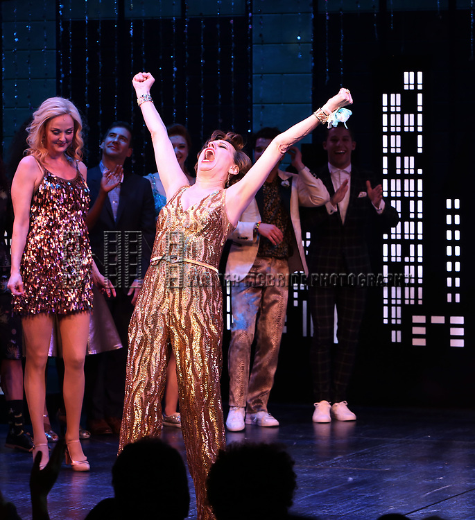 """Beth Leavel during the Broadway Opening Night Curtain Call of """"The Prom"""" at The Longacre Theatre on November 15, 2018 in New York City."""