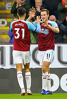 Burnley's Chris Wood celebrates scoring his side's first goal with teammates<br /> <br /> Photographer Alex Dodd/CameraSport<br /> <br /> The Premier League - Burnley v West Ham United - Sunday 30th December 2018 - Turf Moor - Burnley<br /> <br /> World Copyright © 2018 CameraSport. All rights reserved. 43 Linden Ave. Countesthorpe. Leicester. England. LE8 5PG - Tel: +44 (0) 116 277 4147 - admin@camerasport.com - www.camerasport.com