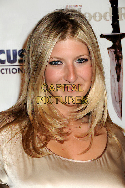 "TARA SUMMERS .""Blood River"" Los Angeles Premiere held at Mann's Egyptian Theater, Hollywood, CA.24th March 2009..portrait headshot beige cream gold .CAP/ADM/BP.©Byron Purvis/Admedia/Capital PIctures"