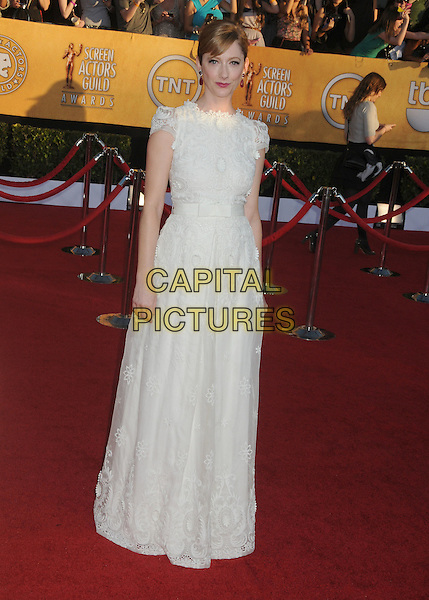 Judy Greer.18th Annual Screen Actors Guild Awards held at The Shrine Auditorium, Los Angeles, California, USA..January 29th, 2012.SAG SAGS full length white dress lace .CAP/ADM/BP.©Byron Purvis/AdMedia/Capital Pictures.