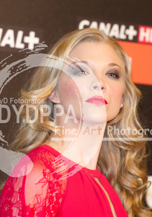 British actress Natalie Dormer ( Game of Thrones) promotes in Spain the 3rd season chapt 9 during NOCTURNA FILM FESTIVAL ( Madrid Fantastic Film Festival) at Palafox Cinema in Madrid on June 04, 2013. Photo By Drake / DyD Fortografos