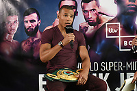 Chris Eubank Jnr speaks during a Press Conference at the Sky Bar, Hilton Hotel on 13th July 2017