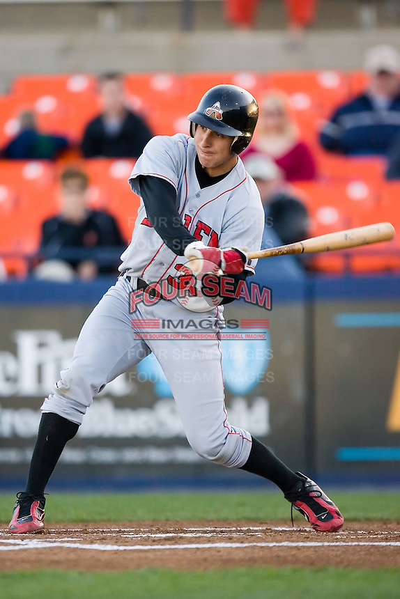 Shortstop Tim Torres (33) of the Salem Avalanche takes his swings versus the Frederick Keys at Harry Grove Stadium in Frederick, MD, Tuesday, April 15, 2008.