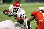 January 5th, 2008:  Rutgers Ray Rice (27) dives into the end zone on a one yard touchdown run during the third quarter of the International Bowl at the Rogers Centre in Toronto, Ontario Canada...Rutgers defeated Ball State 52-30.  ..Photo By:  Mike Janes Photography