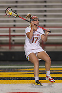 College Park, MD - February 25, 2017: Maryland Terrapins Caroline Wannen (17) looks to pass the ball during game between North Carolina and Maryland at  Capital One Field at Maryland Stadium in College Park, MD.  (Photo by Elliott Brown/Media Images International)