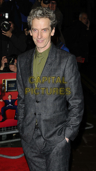 LONDON, ENGLAND - OCTOBER 28: Peter Capaldi attends the &quot;Dom Hemingway&quot; UK film premiere, Curzon Mayfair cinema, Curzon St., on October 28, 2013 in London, England, UK.<br /> CAP/CAN<br /> &copy;Can Nguyen/Capital Pictures