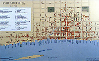 Utopia:  Philadelphia map, c. 1760.