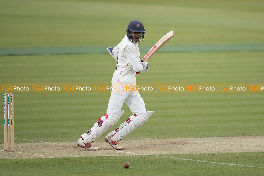Haseeb Hameed of Lancashire CCC guides the ball backward of point during his century during Middlesex CCC vs Lancashire CCC, Specsavers County Championship Division 2 Cricket at Lord's Cricket Ground on 12th April 2019