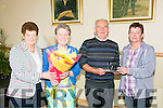 Denis Lyons, Castleisland, who is retiring from the Brandon Hotel after 46 years service celebrates at Kerins O'Rahillys clubhouse Pictured l-r Bridie O Rourke, Margaret Lyons, Denis Lyons and Breda Growgan