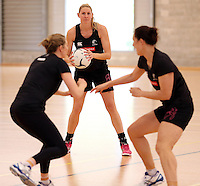 17.09.2013 Silver Ferns Casey Williams in action during the Silver Ferns training in Auckland. Mandatory Photo Credit ©Michael Bradley.