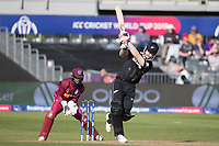 James Neesham (New Zealand) advances down the wicket , misses and is about to be stumped by Shai Hope (West Indies) during West Indies vs New Zealand, ICC World Cup Warm-Up Match Cricket at the Bristol County Ground on 28th May 2019