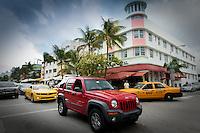 Ocean Drive, South Beach, Miami Beach Florida, USA. Photo by Debi Pittman Wilkey