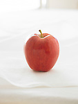 A red Gala apple on a white background.