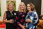 WATERBURY, CT. 11 October 2018-101618 - From left Kelly Crone of Prospect, Brenda Corbo of Watertown, and Diane Cancellaro of Waterbury enjoy themselves during the Habitat for Humanity Food and Wine Festival at the Mattatuck Museum in Waterbury on Thursday. Bill Shettle Republican-American