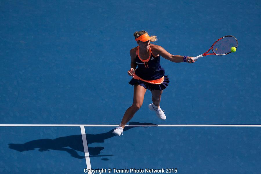 Angelique Kerber (GER)<br /> <br /> Tennis - Australian Open 2015 - Grand Slam -  Melbourne Park - Melbourne - Victoria - Australia  - 19 January 2015. <br /> &copy; AMN IMAGES