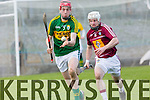 In Action Kerry's Thomas Casey and Westmeath's Alan Devine at Kerry v Westmeath at Austin Stack Park on Sunday