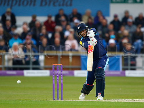May 1st 2017, Headingley, Leeds, England; Royal London One-Day Cup; Yorkshire versus Lancashire; Joe Root of Yorkshire drives into the covers