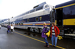 AK: Alaska Denali National Park, Railroad, Denali to Anchorage .Photo Copyright: Lee Foster, lee@fostertravel.com, www.fostertravel.com, (510) 549-2202.Image: akdena222