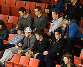 Parker Milner (BC - 35), Bill Arnold (BC - 24), Kevin Hayes (BC - 12) - Johnny Gaudreau (BC - 13), Cam Spiro (BC - 15), Teddy Doherty (BC - 4), Danny Linell (BC - 10) - The Northeastern University Huskies defeated the visiting Merrimack College Warriors 4-2 (EN) on Wednesday, October 10, 2012, at Matthews Arena in Boston, Massachusetts.