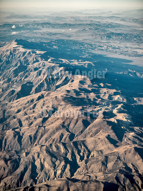 White Mountains of eastern California from a window seat.