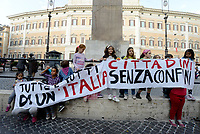 Ius Soli, manifestazione in Piazza Montecitorio