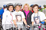 Bernadette O'Sullivan, Rosemarie Brosnan, Geraldine Ahern and Elaine Courtney at the Stephanie O'Sullivan Charity Cycle in Milltown on Sunday morning