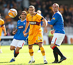 Tom Hateley with Kris Boyd and Pedro Mendes