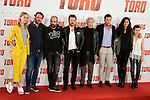 "Ingrid Garcia Jonsson, Jose Manuel Poga, Luis Tosar, the director Kike Maillo Jose Sacristan, Mario Casas, Nya de la Rubia and Claudia Canal  attends to the presentation of the spanish film ""Toro"" at Hotel Hesperia in Madrid, April 19,2016. (ALTERPHOTOS/Borja B.Hojas)"