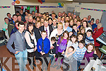 John and Nora Joy, Cromane Upper, Killorglin, pictured with family and friends as they celebrated their 40th wedding anniversary in the daughter Tina's home on Friday night. Nora was also celebrating her 60th birthday.