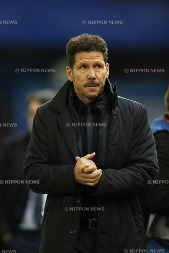 Diego Simeone (Atletico), MARCH 15, 2017 - Football / Soccer : UEFA Champions League round of 16 2nd leg match between Club Atletico de Madrid 0-0 Bayer 04 Leverkusen at the Vicente Calderon Stadium in Madrid, Spain. (Photo by Mutsu Kawamori/AFLO) [3604]