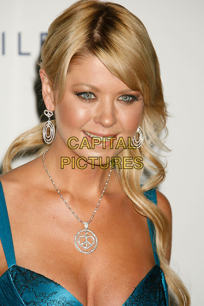 "TARA REID.14th Annual Race to Erase MS Themed ""Dance to Erase MS"" held at the Century Plaza Hotel, Century City, California, USA, 13 April 2007..portrait headshot silver diamond necklace earrings blue turquoise dress.CAP/ADM/RE.©Russ Elliot/AdMedia/Capital Pictures."
