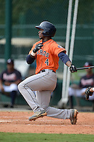 Houston Astros outfielder Hector Roa (4) during an Instructional League game against the Atlanta Braves on September 22, 2014 at the ESPN Wide World of Sports Complex in Kissimmee, Florida.  (Mike Janes/Four Seam Images)