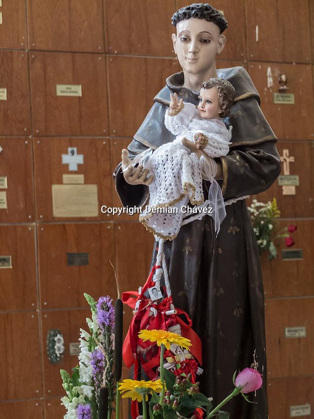 Quer&eacute;taro, Qro. 13 de junio de 2015.-  Este d&iacute;a es la celebraci&oacute;n de San Antonio de Padua, de acuerdo a la religi&oacute;n cat&oacute;lica: San ANtonio es considerado el patrono de los ni&ntilde;os y adultos. Durante la fiesta patronal se realiza una misa donde se ungen los santos &oacute;leos a los ni&ntilde;os.  <br /> <br /> Foto: Demian Ch&aacute;vez / Obture.