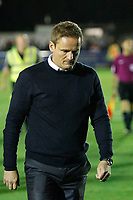 AFC Wimbledon manager, Neal Ardley seen during the Sky Bet League 1 match between AFC Wimbledon and MK Dons at the Cherry Red Records Stadium, Kingston, England on 22 September 2017. Photo by Carlton Myrie / PRiME Media Images.