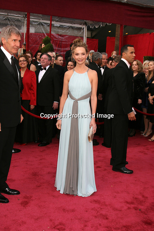 Calista Flockhart and Harrsion Ford.80th Academy Awards ( Oscars).Arrivals.Los Angeles, CA.February 23, 2008.©2008 Kathy Hutchins / Hutchins Photo....