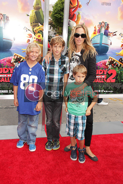 """Kim Raver and family<br /> at the """"Cloudy With A Chance of Meatballs 2"""" Los Angeles Premiere, Village Theater, Westwood, CA 09-21-13<br /> David Edwards/Dailyceleb.com 818-249-4998"""