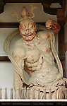 Horyuji Nio, Benevolent King, Agyoh, Japan's Oldest Kongo Rikishi Guardians 711 AD, Chumon Gate, Horyuji, Nara, Japan