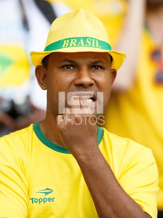 A dejected Brazil fan