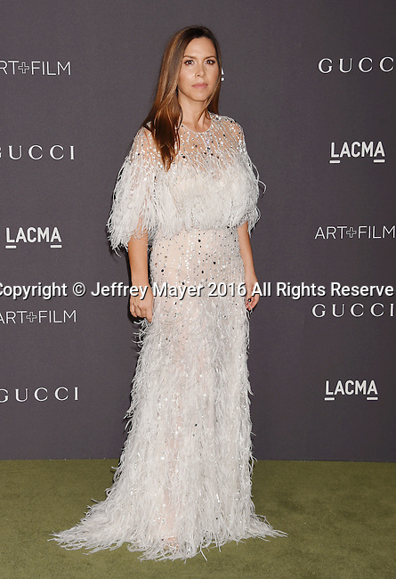 LOS ANGELES, CA - OCTOBER 29: Designer Monique Lhuillier attends the 2016 LACMA Art + Film Gala honoring Robert Irwin and Kathryn Bigelow presented by Gucci at LACMA on October 29, 2016 in Los Angeles, California.