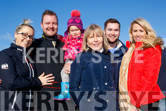 L-R Aisling, Chris, Seoda, Rosemarie&Richie Campbell with Stephanie Horan at the Rally last Sunday.