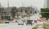 NWA Democrat-Gazette/BEN GOFF @NWABENGOFF<br /> Traffic flows Tuesday, March 27, 2018, on East Centerton Boulevard/Arkansas Highway 102 at the intersection with Greenhouse Road in Centerton.