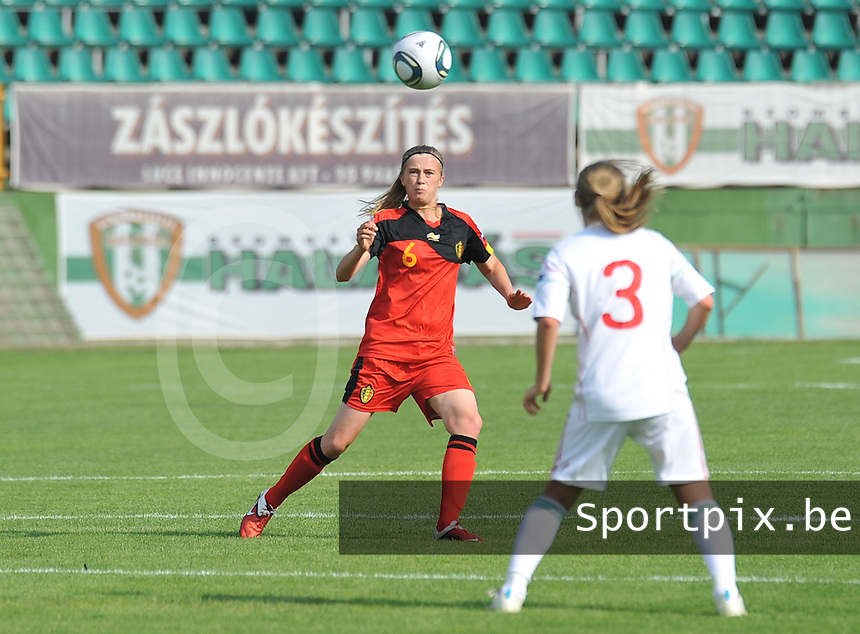 Hungary - Hongarije : UEFA Women's Euro Qualifying group stage (Group 3) - 20/06/2012 - 17:00 - szombathely  - : Hungary ( Hongarije ) - BELGIUM ( Belgie) :.Julie Biesmans.foto DAVID CATRY / JOKE VUYLSTEKE / Vrouwenteam.be.