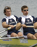 Munich, GERMANY, 2006, FISA, Rowing, World Cup, GBR M4- Bow  Steve Williams, 2 Peter Reed, 3. Alex Partridge and Andy Twiggs Hodge.  held on the Olympic Regatta Course, Munich, Thurs. 25.05.2006. © Peter Spurrier/Intersport-images.com,  / Mobile +44 [0] 7973 819 551 / email images@intersport-images.com..[Mandatory Credit, Peter Spurier/ Intersport Images] Rowing Course, Olympic Regatta Rowing Course, Munich, GERMANY