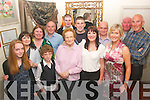 Mary Pierce, Ardfert (front centre) pictured in Cassidy's restaurant, Tralee last Saturday night with her family to celebrate the occasion of her 80 birthday, present were Breda, Pat, Sean and Padraig Lyons, Ger, Odhran, Maedbh, Kathleen, Caren and Phillip Pierce with Richard and Mary Anderson.
